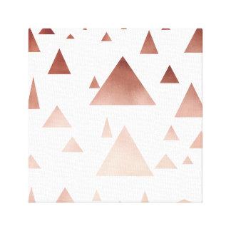 Lienzo modelo geométrico de los triángulos del oro color