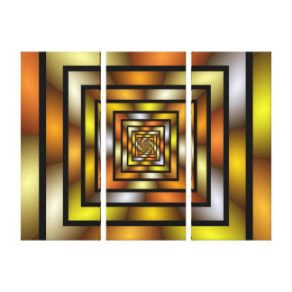 Lienzo Modelo gráfico colorido del fractal del túnel