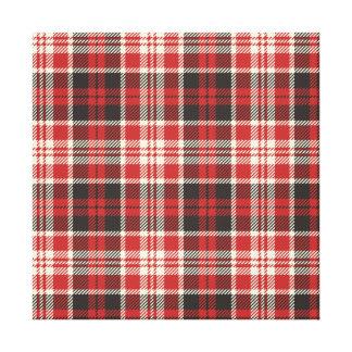 Lienzo Modelo rojo y negro de la tela escocesa
