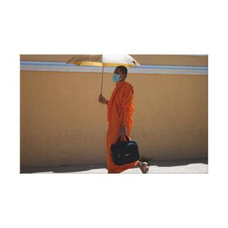 Lienzo Monje budista