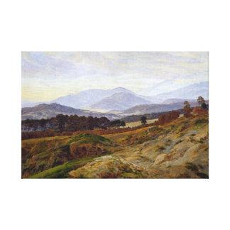 Lienzo Montaña de Caspar David Friedrich en Riesengebirge