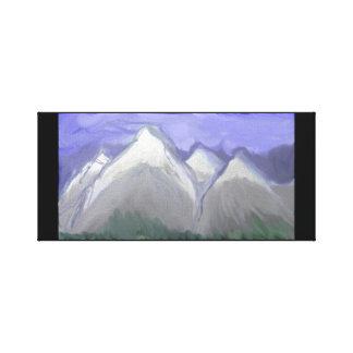 Lienzo Montañas de Colorado (acuarela abstracta)