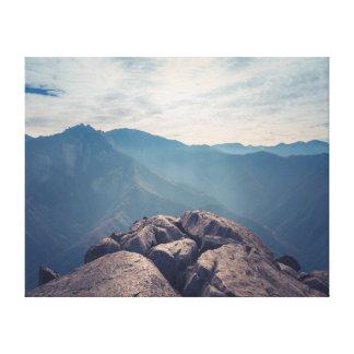 Lienzo Montañas del paisaje el | de la fotografía el | de