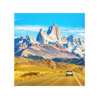 Lienzo Montañas Nevado los Andes, EL Chalten, la