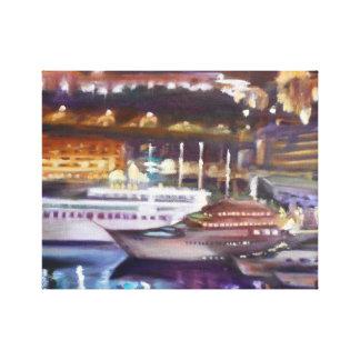 Lienzo Monte Carlo en la lona envuelta noche