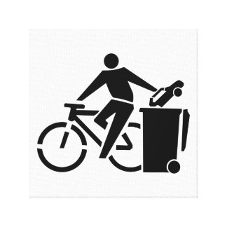 Lienzo Monte una bici no un coche