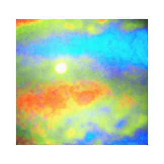 Lienzo Moonglow a través de las nubes