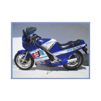 Lienzo Moto azul del hielo
