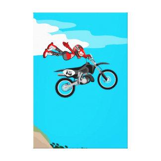 Lienzo Motocross extrema volando por el aire