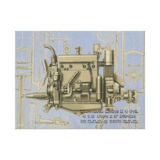 Lienzo Motor de gas de Milwaukee Wisconsin del motor de