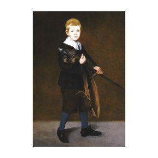 Lienzo Muchacho de Édouard Manet con una espada