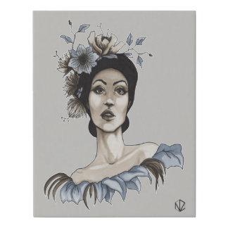 Lienzo Mujer con Flores - María