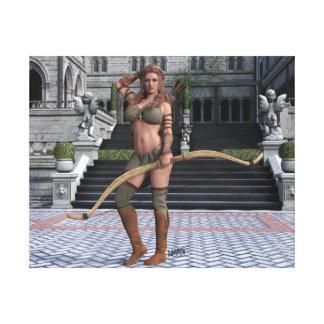 Lienzo Mujer con las flechas