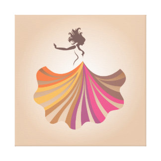 Lienzo Mujer del baile