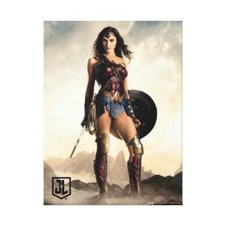 Lienzo Mujer Maravilla de la liga de justicia el | en