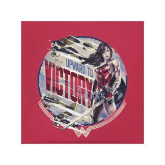 Lienzo Mujer Maravilla hacia arriba a la victoria