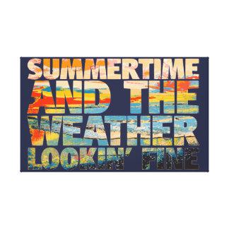 Lienzo Multa de Lookin del tiempo del verano