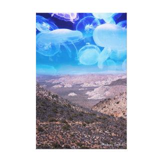 Lienzo Mundo de las medusas
