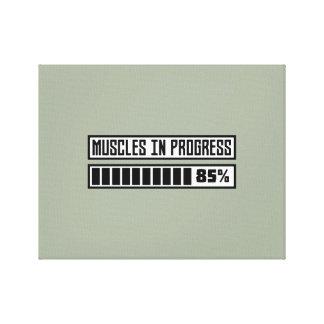 Lienzo Músculos en el entrenamiento Z1k6x de los progess
