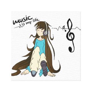 Lienzo Music is my life