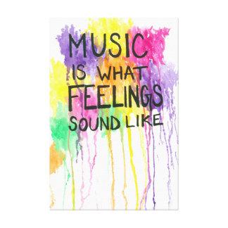 Lienzo Música y sensaciones