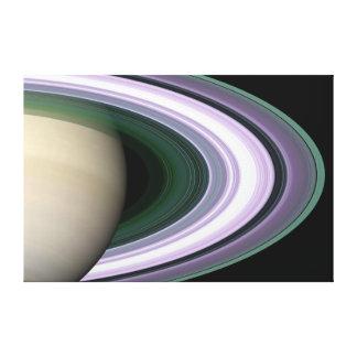 Lienzo NASA hermosa de los anillos del planeta de Saturn