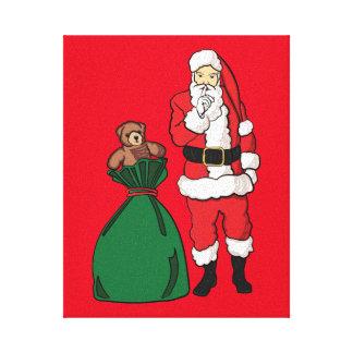 Lienzo Navidad Papá Noel