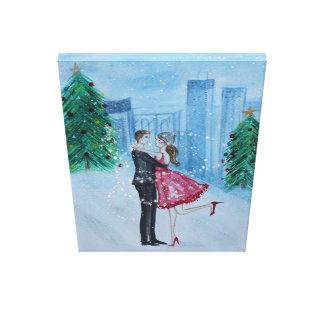 Lienzo Navidad romántico