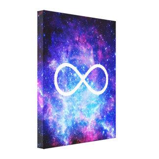 Lienzo Nebulosa del símbolo del infinito