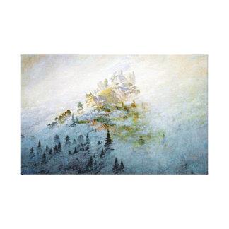 Lienzo Niebla de la mañana de Caspar David Friedrich en