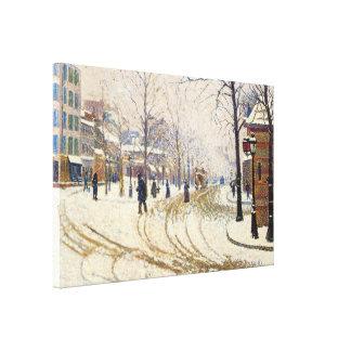 Lienzo Nieve, Boulevard de Clichy, París de Paul Signac
