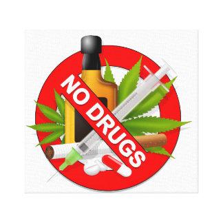 Lienzo ningunas drogas