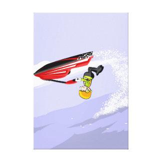 Lienzo Niño de cabeza en su jet ski