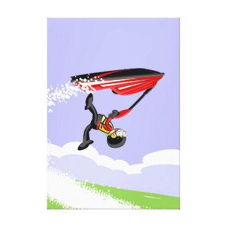 Lienzo Niño girando en el aire en su jet ski