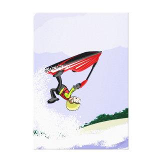 Lienzo Niño muestra su hazaña en su jet ski
