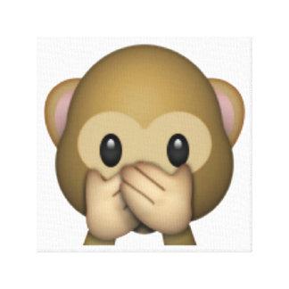Lienzo No hable ningún mono malvado - Emoji