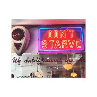 Lienzo No muera de hambre