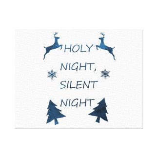 Lienzo Noche santa, noche silenciosa