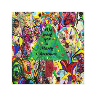 Lienzo Nosotros TEJIDO usted Felices Navidad