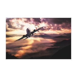 Lienzo Nubes del cielo el | del avión el |
