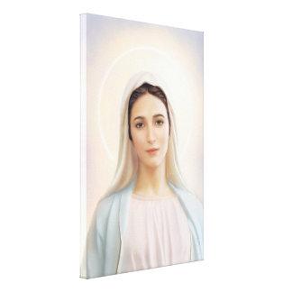 """Lienzo Nuestra señora de Medjugorje, 24"""" x 36"""", lona,"""