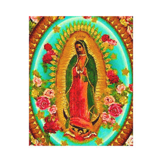 Lienzo Nuestro Virgen María mexicano del santo de señora