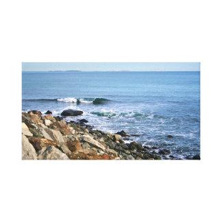 Lienzo Nueva Inglaterra costera