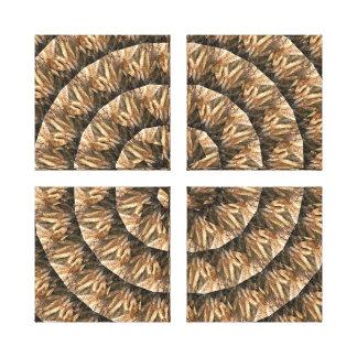 Lienzo Oídos del trigo en un modelo espiral abstracto,