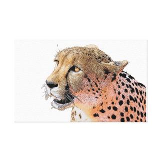 Lienzo Ojos de oro del primer del guepardo