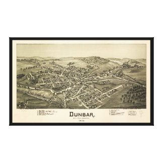 Lienzo Opinión aérea Dunbar, Pennsylvania (1900)