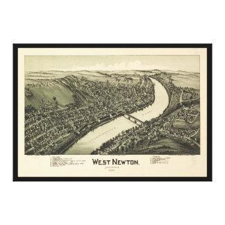 Lienzo Opinión aérea Newton del oeste, Pennsylvania