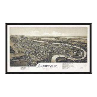Lienzo Opinión aérea Sharpsville, Pennsylvania (1901)