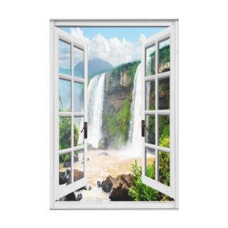 Lienzo Opinión Trompe - l ' ventana falsa de la cascada