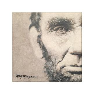 """Lienzo Original de Abraham Lincoln - """"perspectiva"""